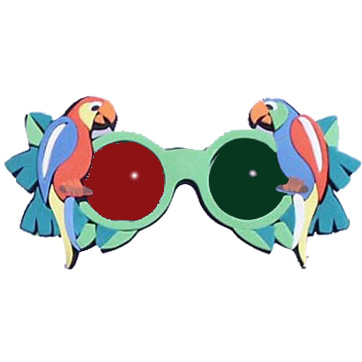 Foam Glasses - Parrot Analglyph
