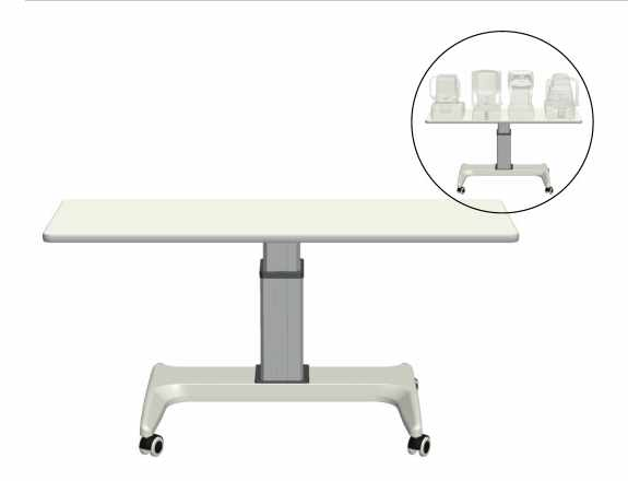 Veatch Wheelchair Accessible Instrument Table - 4 Instruments